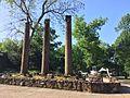 Cherokee Heritage Center - Cherokee Female Seminary remnant columns (2015-05-27 09.05.13 by Wesley Fryer).jpg