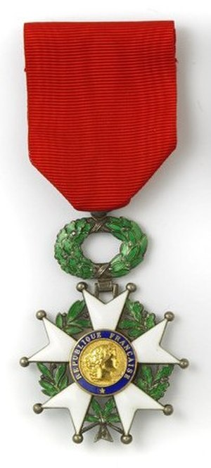 Orders, decorations, and medals of France - Image: Chevalier légion d'honneur