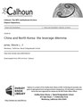 China and North Korea- the leverage dilemma (IA chinandnorthkore1094558318).pdf