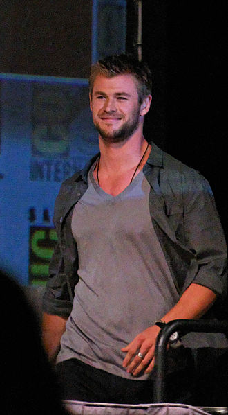 Thor (Marvel Cinematic Universe) - Chris Hemsworth at the 2010 San Diego Comic-Con.