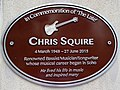 Chris Squire Brown Plaque with Rickenbacker 4001 bass guitar motif.jpg