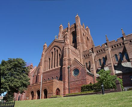 Christ Church Cathedral still dominates the skyline of Newcastle. Christ Church Cathedral.jpg