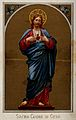 Christ showing his Sacred Heart, statue of the Sacred Heart Wellcome V0035647.jpg