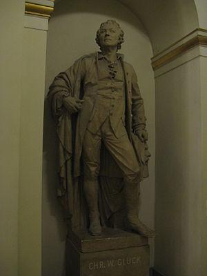 Statue of Christoph Willibald Gluck at Musikverein.