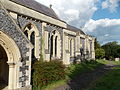 Church of the Holy Cross, Goodnestone - nave and chancel from south-west.jpg