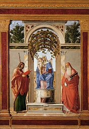 Madonna enthroned with Child with Saints James the Apostle and Jerome