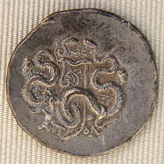 Cistophorus - Cistophorus minted in Apollonis under the reign of Aristonicus (133–130 BC), Cabinet des Médailles