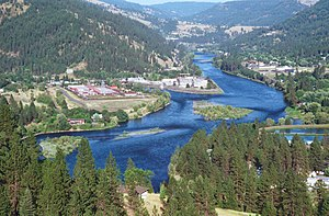 Clearwater River (Idaho) - Clearwater River near Orofino, ID