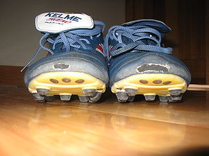 Cleat (shoe) - Football shoes have studs on their soles