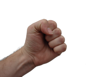 Clenched human fist