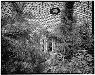 Climatron - Interior of the Climatron as it was in the early 1980s (HABS photo - August 1983)