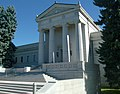 Closeup of Fairmount Mausoleum at Fairmount Cemetery, Denver.JPG