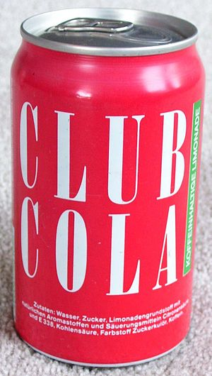 Club Cola - A can of Club Cola produced in 1993, after German reunification.