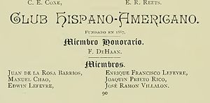 Club Hispano Americano - Club Hispano Americano - 1887 - First Latino student organization in the United States on a college campus.