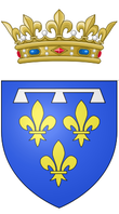 alt=Description de l'image Coat of arms of the Philippe d'Orléans, Duke of Orléans (nephew and son in law of Louis XIV).png.