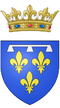 Coat of arms of the Philippe d'Orléans, Duke of Orléans (nephew and son in law of Louis XIV).png