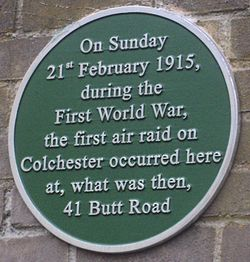 Photo of Butt Road air raid green plaque