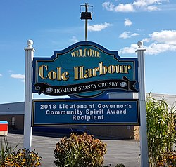 Cole Harbour city sign