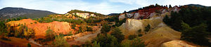 Rustrel - Panoramic of the French Colorado.