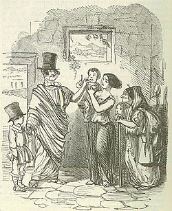 In A Cartoon By John Leech From The Comic History Of Rome Gilbert Abbott Beckett Top Hat Is Placed Deliberate Anachronism On Head