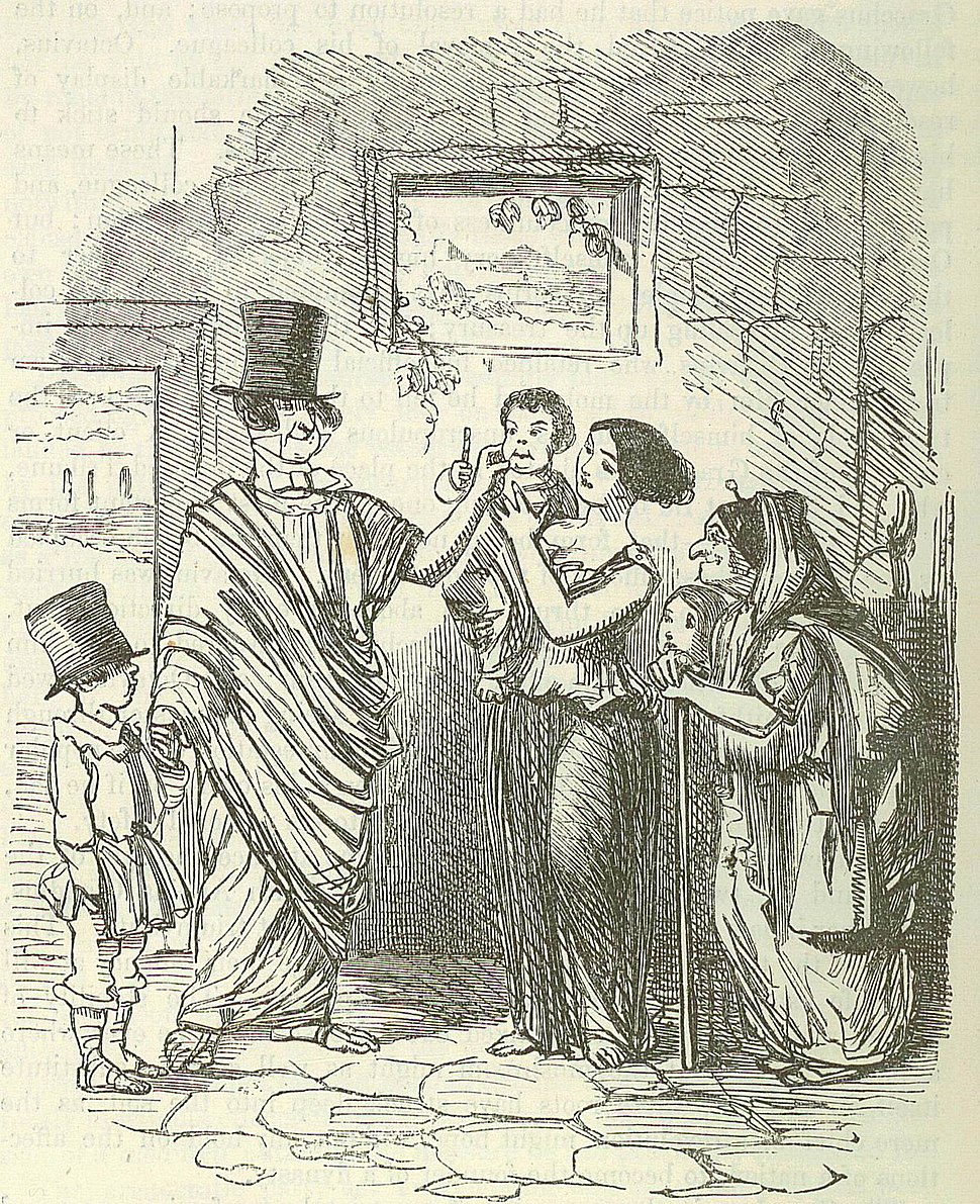 Comic History of Rome p 238 Tib Gracchus canvassing
