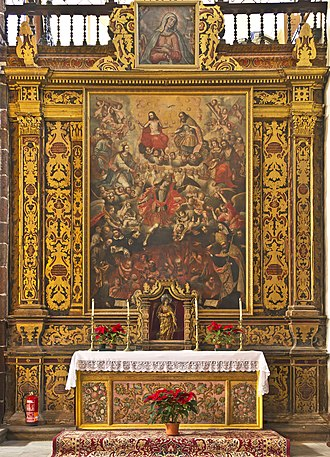 Purgatory - Altarpiece of the souls in purgatory. Church of the Immaculate Conception (Santa Cruz de Tenerife, Spain).
