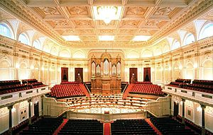 Baltimore Opera Company - The Grote Zaal (Great Hall) of the Concertgebouw after which the Baltimore Lyric Opera House was modeled.