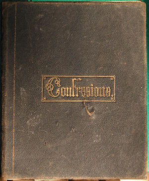 Confession album - The cover of a confession album from the late 1860s