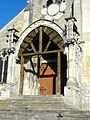 Conflans-Sainte-Honorine (78), église Saint-Maclou, porche néogothique 1.jpg