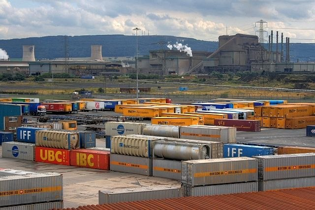 Container Yard,Teesport - geograph.org.uk - 1453129