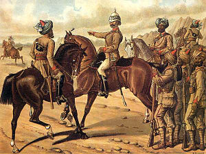 Corps of Guides (India) - Image: Corps of Guides (Infantry & Cavalry) Richard Simkin