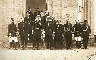 Brazilian Army - High command of the Brazilian Imperial Army in 1885.
