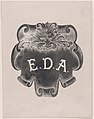Counterproof of an impression from a name plate for Edward D. Adams MET DP877167.jpg