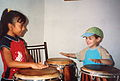 Cours de percussion afro-péruvienne à El Carmen 01.JPG