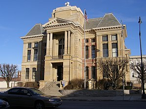 Montgomery County Courthouse in Crawfordsville, gelistet im NRHP