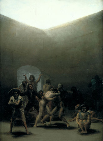 Yard with Lunatics - Image: Courtyard with Lunatics by Goya 1794