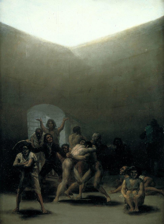 Courtyard with Lunatics by Goya 1794