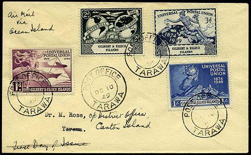 Cover Gilbert Ellice Islands 1949 UPU
