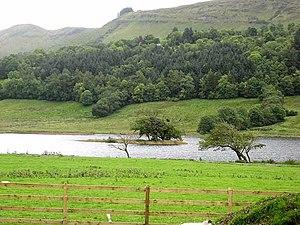 Glencar Lough - Crannog at eastern end