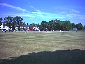 Mitcham Cricket Green - Cricket match on Mitcham Cricket Green