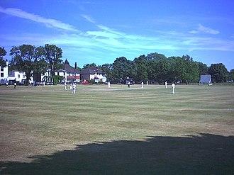 Mitcham Cricket Green - Cricket match on Mitcham Cricket Green