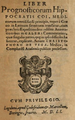 Cristóbal de Vega (1551) Liber prognosticorum Hippocratis.png