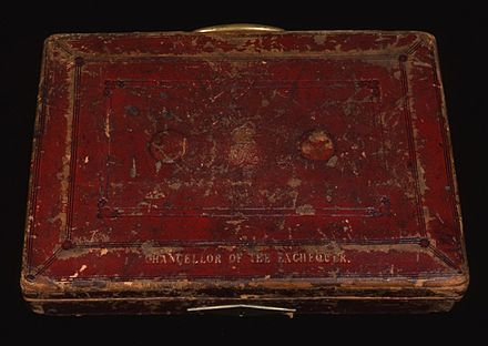 "UK Prime Minister William Gladstone's 19th-century ""red box"", held in the archives"