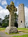 Cross of the Scriptures & O'Rourkes Tower.jpg