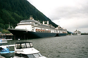 Cruise ships in Juneau, Alaska. Photograph by ...
