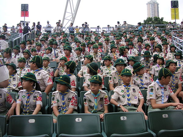 Hong Kong Cubs in uniform Cub Scouts of Hong Kong at Scout Rally.jpg