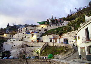 Sacromonte - Some of the famous caves (troglodyte houses) of Sacromonte