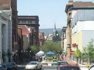 Cumberland, Maryland - Downtown Cumberland in July 2001