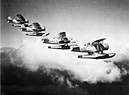 SOCs from USS Honululu (CL-48) in flight c1938