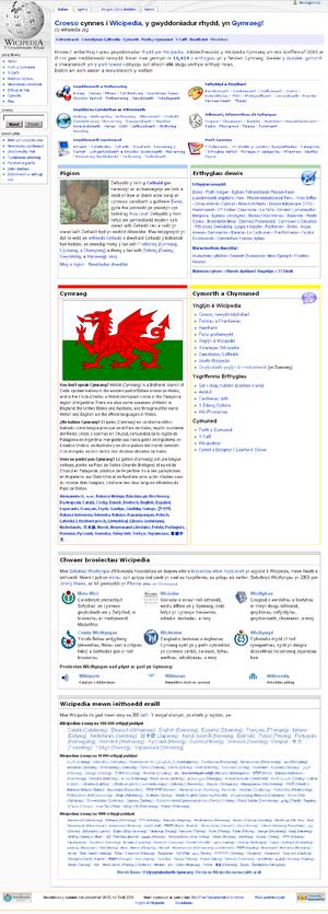 Welsh Wikipedia - Image: Cywiki